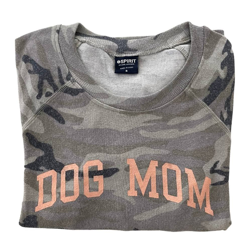 """Dog Mom"" Brushed Jersey Camo Top"