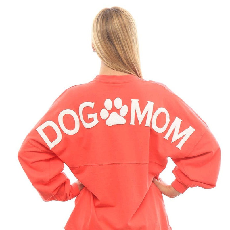 """Dog Mom"" Spirit Jersey® - Black or Coral"