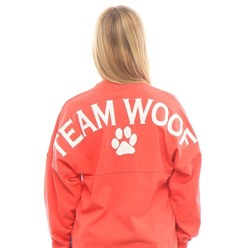 """Team Woof"" Spirit Jersey® - Black or Coral"