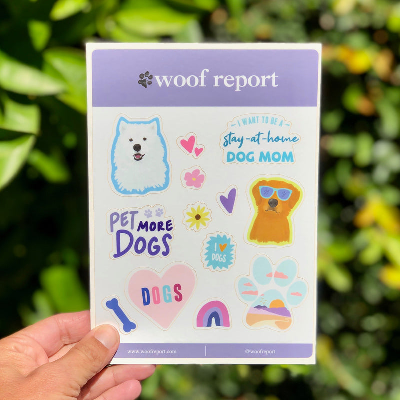 Dog Lover Sticker Sheets - Woof Report Exclusives