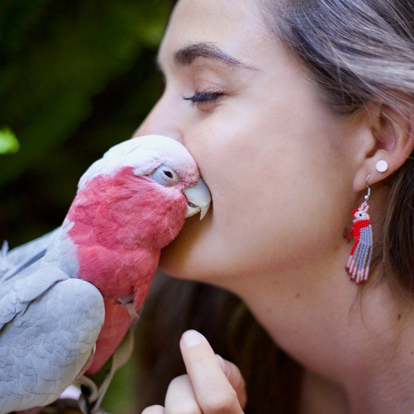 Bogie The Galah By Mother Sierra - Huichol Jewelry - Native American Jewelry