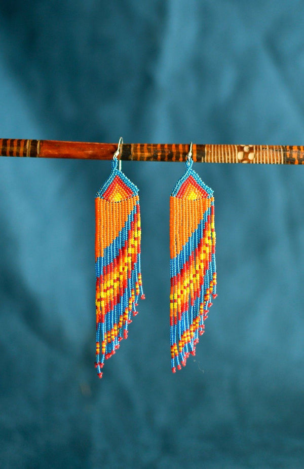 Parrot Tail By Mother Sierra - Huichol Jewelry - Native American Jewelry
