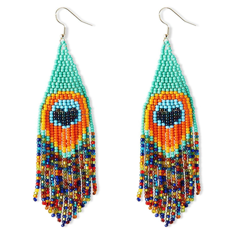 Pavo Real By Mother Sierra - Huichol Jewelry - Native American Jewelry