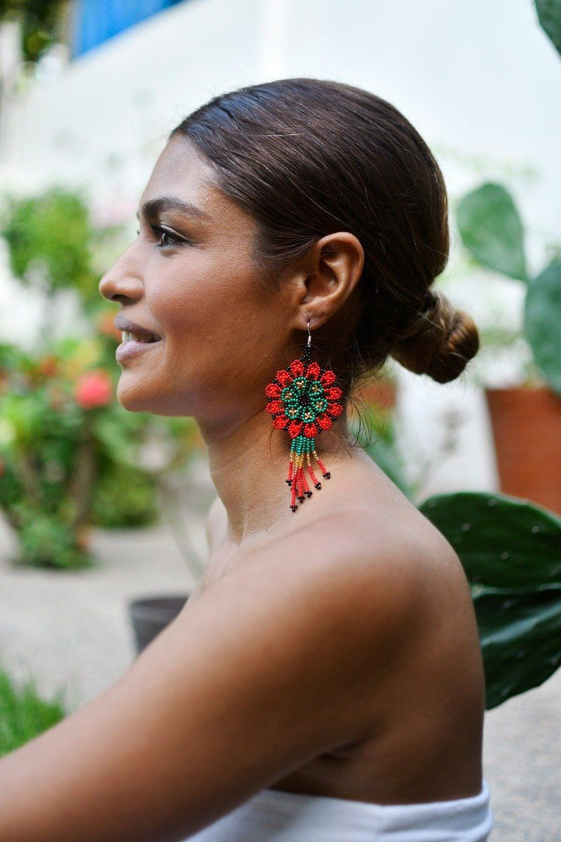 Pomegranate By Mother Sierra - Huichol Jewelry - Native American Jewelry