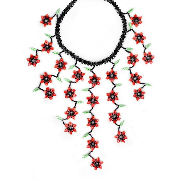 Roses Florecitas By Mother Sierra - Huichol Jewelry - Native American Jewelry