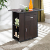 MerryRabbit – 多功能餐車餐桌700#   Walnut - Rolling Kitchen Island with Free Delivery