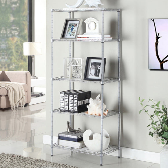 MerryRabbit - 5 層收納層架 5 Tiers (Silver) - Multi-Tiered Storage Rack