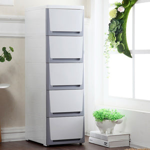 MerryRabbit - 夾縫抽屜式38cm收納櫃MR-3815 Slim size PP plastic 5 drawers storage cabinet 38cm