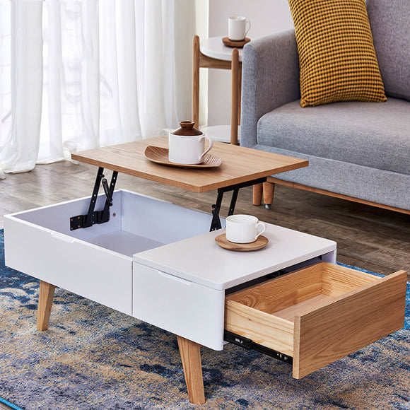 MerryRabbit - 北歐多功能升降儲物茶几MR-88064 Nordic style Multi-functional lifting Coffee Table with storage