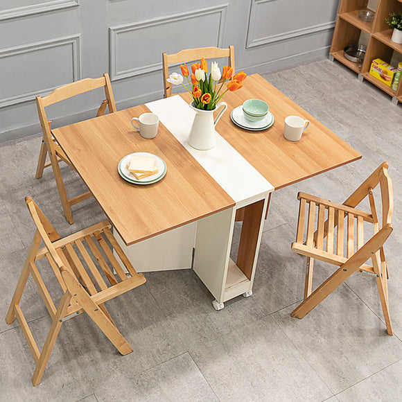MerryRabbit – 可移動摺疊桌椅1+4套裝WT043-10+SY003-11 Movable folding table with 4 Chairs set