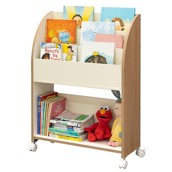 MerryRabbit - 可移動兒童書架收納架WT037-5 Movable Kid's bookshelf with Storage Rack