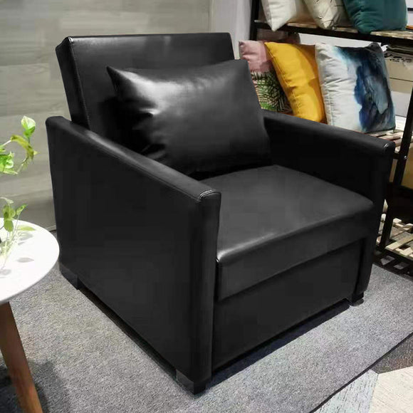 MerryRabbit - 日式多功能單人皮藝梳化床 MR-7296 Single Seater Multi-functional Folding Microfiber Leather Sofa