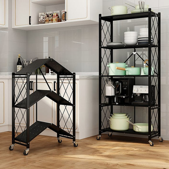 MerryRabbit – 可摺疊收納三層架MR-2000_3  3 Tiers Foldable Metal Storage Rack