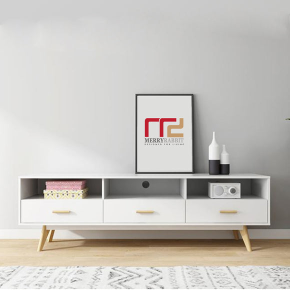 MerryRabbit - 北歐1.8米簡約儲物電視櫃地櫃MR-88041 Nordic style 1.8m TV stand with Storage