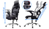 MerryRabbit - 人體工學PU可半躺升降轉椅電腦椅辦公椅 MR-137B Ergonomic PU Office Chair with Headrest
