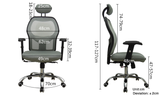 MerryRabbit – 人體工學網布辦公椅MR-875 Ergonomic Office Chair with Headrest
