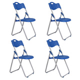 MerryRabbit - 4 張時尚摺疊椅MR-396 4 Pcs Plasitc Folding Chairs