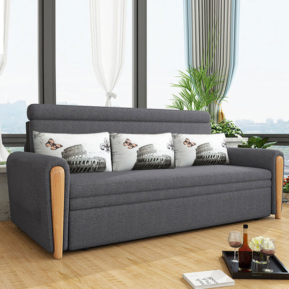 MerryRabbit - 150cm多功能摺疊儲物梳化床MR-801  Multi-functional foldable fabric sofa bed with Storage