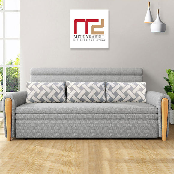 MerryRabbit - 130cm多功能摺疊儲物梳化床MR-801 Multi-functional foldable fabric sofa bed with Storage130cm