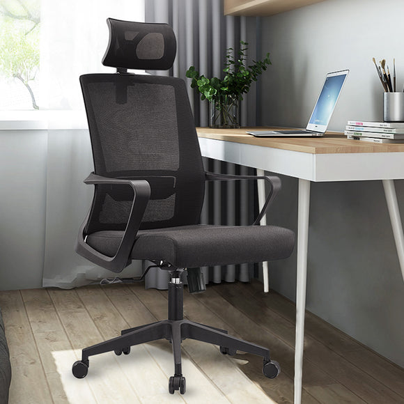 MerryRabbit – 時尚網布轉椅MR-A15 Ergonomic Swivel Mesh Chair with Headrest