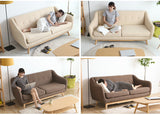 MerryRabbit – 北歐簡約布藝沙發三人位MR-027   Nordic Fabric Sofa 3 Seater