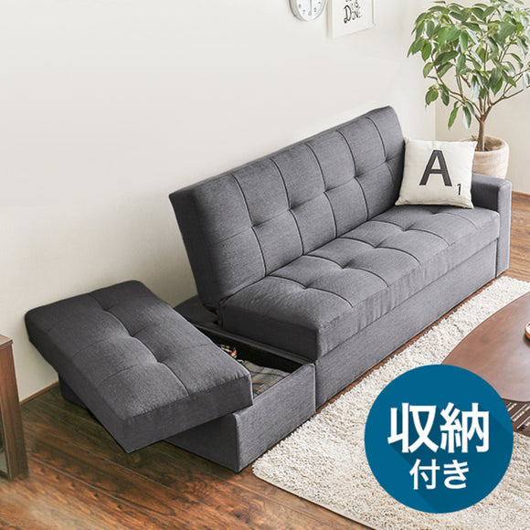 MerryRabbit - 日式布藝摺疊儲物梳化床及腳踏 MR-116 Multi functional Fabric Sofa Bed and Storage Ottoman