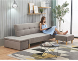 MerryRabbit – 日式折疊小戶型沙發組合三件套MR-1842 Multi functional Fabric Sofa Bed with Storage Ottoman & Footrest