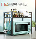 MerryRabbit - 可伸縮廚房微波爐置物架 MR-4198B Extendable Carbon Steel Microwave Shelf/Rack