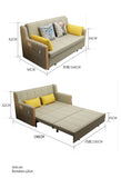 MerryRabbit - 168cm多功能摺疊布藝梳化床MR-7096 Multi-functional Foldable Fabric Sofa Bed 1.68M
