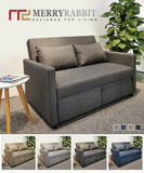 MerryRabbit - 多功能小戶型可折疊布藝雙人梳化床MR-7258 2 Seaters Multi-functional Foldable Fabric Sofa bed