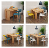 MerryRabbit - 實木餐桌家用小戶型伸縮餐桌 橡木色 MR-9910X-0AK  Extendable Solid wood Dining Table