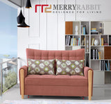 MerryRabbit - 多功能可折疊沙發床120cm MR-K619 2 Seaters Multi-functional Foldable Fabric Sofa bed 120cm