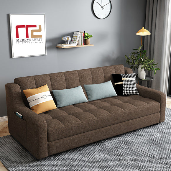MerryRabbit - 多功能3人位折疊儲物布藝沙發床 MR-50 3 Seaters 204cm Fabric Sofa /Sofa Bed with Storage