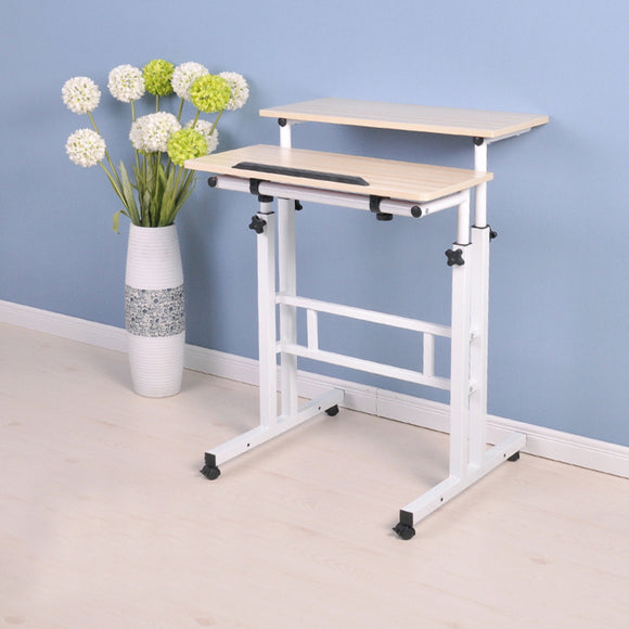 MerryRabbit - 多功能方形電腦桌101 MerryRabbit - An 2-Tier Expandable Standing Desk 101