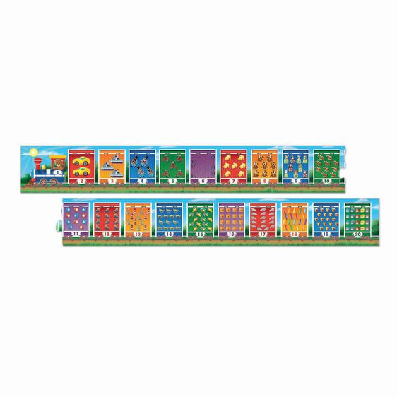 Number Train 21 Piece Floor Puzzle
