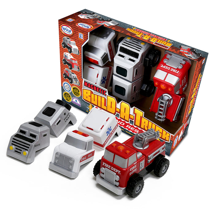 Build A Truck Magnetic Rescue Set