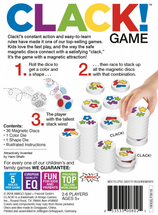 Clack Magnetic Stacking Matching Game