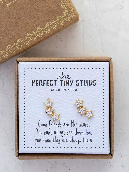 Stars Perfect Tiny Studs Earrings