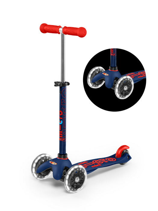 LED Mini Deluxe NAVY BLUE Kick Scooter