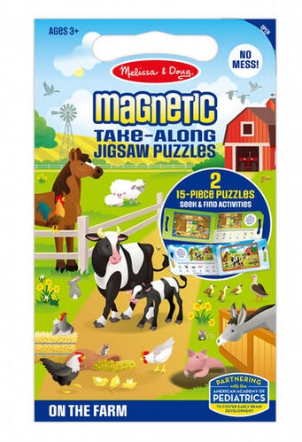 Farm Magnetic Take Along Puzzle