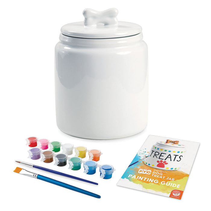 Paint Your Own Porcelain: Dog Treat Jar #13980303