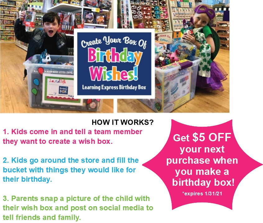 $5 Off Your Purchase with Birthday Box Creation!