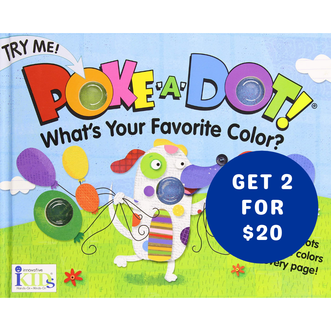 Get 2 Poke-A-Dot Books For $20
