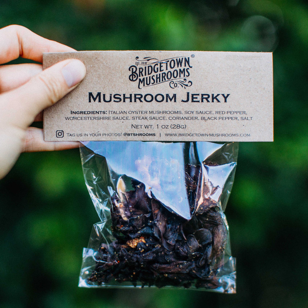 Load image into Gallery viewer, Alder Smoked Mushroom Jerky