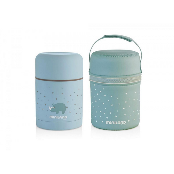 SILKY FOOD THERMOS BLUE 600ML