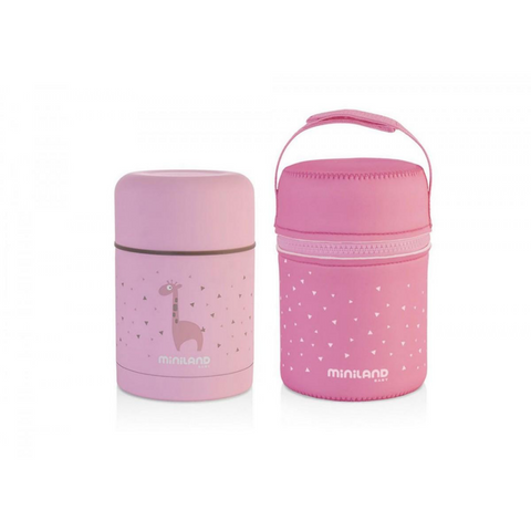 SILKY FOOD THERMOS PINK 600ML