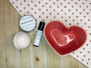 Glass Heart Gift Set