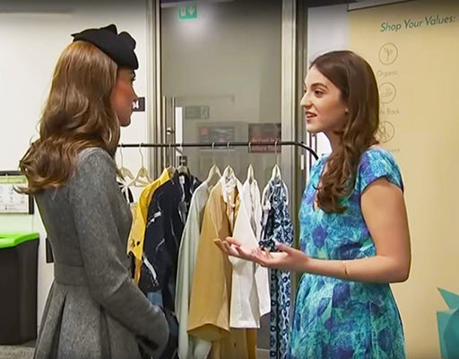 MAMOQ CEO, Madeline Petrow talking with HRH The Duchess of Cambridge