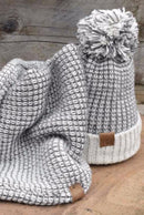 100% Alpaca DK loop Knit Snood and Matching Pom Pom Hat-Ted & Bessie-MAMOQ