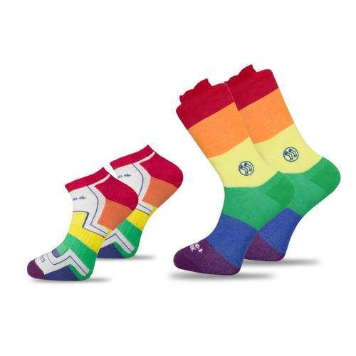 2x Pack Bundle - LGBT - Homeless Calf & Ankle Bamboo Sock and-Stand4 Socks-MAMOQ